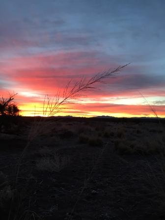 At sunrise...
